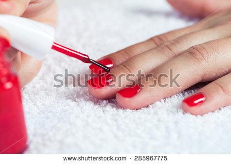 ssiimm stock photo manicure beautiful manicured woman s nails with red nail polish on soft white towel 285967775 - اسهال و برخی باکتری های روده و دستگاه گوارش